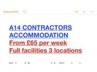 A14 contractors Accommodation