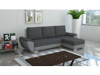 Brand New Corner Sofa Bed Best Quality GREY colour 2 Storage Free Delivery FABRIC