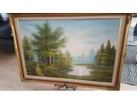 Vintage oil painted and signed picture