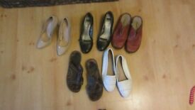 JOBLOT Brand new Womens size 7 shoes leather Clarks sandals heels 5 pairs
