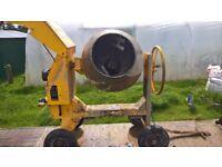 Cement Mixer Diesel Yanmar Engine Electric Start Good Condition