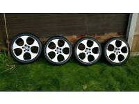 Genuine 18inch VW MK5 Golf Monza Alloys with Excellent Tyres