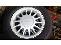 4 x Saab 9000 Original Alloys with tyres