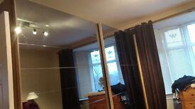 Sliding mirrored door wardrobe