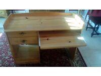 Pine computer desk for sale