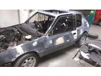 Peugeot 205 gti 1.9 easy project all parts included to finish may swap px part exchange
