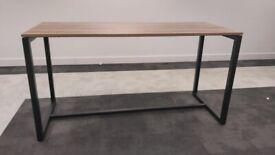 3 Light walnut high office table/bar wood finish