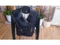 River Island Leather Jacket Women's - size 8