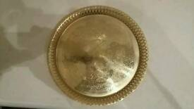 'Estetica' 24 carat gold-played dish or tray