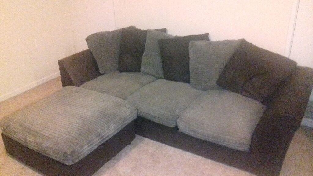 Corner Sofa Detachable Footstool Very Comfortable Low Deep And Long Used