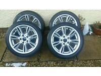 "Genuine bmw 17"" alloys"