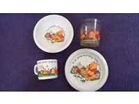 Winnie The Pooh Bowl, Plate, Cup And Mug Set £10