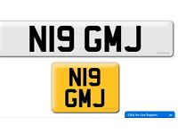 N19 GMJ private cherished personalised personal registration plate number cheap