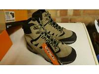size 8 steel toe cap hiking working boots