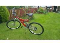Nice red mountain bike