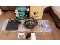 Logitech Driving Force GT steering wheel - Boxed in mint condition