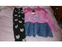 Peppa pig top and cat leggings