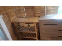 £60 kitchen trolley( 2.5 month oldl)