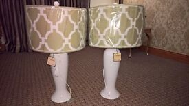 Two J Hunt Lamps. NEW
