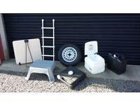 Caravan Accessories Spare wheel Folding Table Waste tank