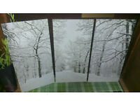 canvas wall art snow christmas large picture picture