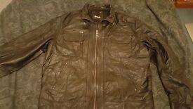 Leather Jacket Bench