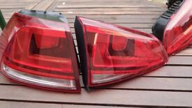 VW Golf Mk7 VII LEFT Rear Tail Lights (inside & outside) Perfect Condition Genuine Original