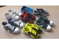 Boys Footwear Bundle. Football, Tennis, Sandshoes and Trainers