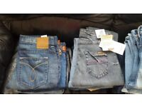 joblot jeans 250 pairs all new levis wrangler ck lee
