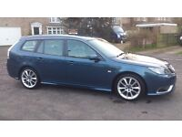 LOW MILEAGE (50,170) DIESEL ESTATE SAAB 9-3 TTiD 1.9L AERO SPORTWAGON TOP SPEC HEATED LEATHER SEATS