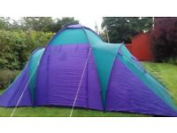 Four man tent in Good condition . Watertight despitr some taped areas. . Bargain at £25
