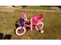 Girl's bicycle 12 inch wheels age 2-5 year old