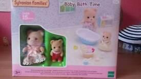 Sylvanian families baby bath set