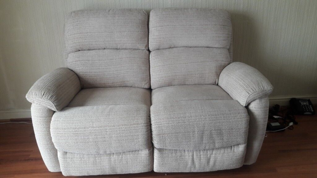 Two Seater Electric Recliner Sofa And 1 X Chair