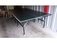 Table Tennis Table, Two Section Folding Full Size
