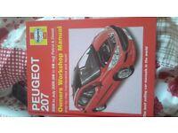 Peugeot 207 car manual £5 excellent condition