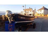 Ex fishing boat 17ft