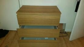 3 drawer wooden Ikea draw £40