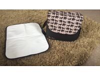 Silver cross changing bag & changing mat