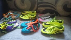 Assorted football boots