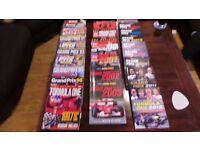 Formula 1 magazines from 1988-2012