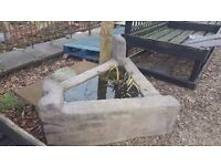 Three Sided Garden Planter/Water Feature
