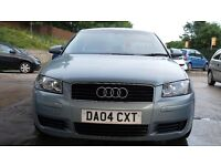 AUDI A3 2004 1.6 PETROL FULL HISTORY 1 YEAR MOT IN BLUE VERY GOOD CONDITON 3DOOR HATCH