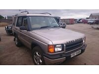 2000 LAND ROVER DISCOVERY TD5, 2.5 DIESEL, BREAKING FOR PARTS ONLY, POSTAGE AVAILABLE NATIONWIDE
