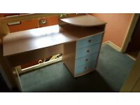 small wooden desk with drawers in good condition for sale, perfect as a children's starter desk