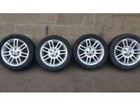 MG Genuine 16 alloy wheels + 4 x tyres 205 50 16