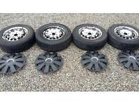"""VOLKSWAGEN 15"""" Steel Wheels and Tyres- PCD 5x112"""