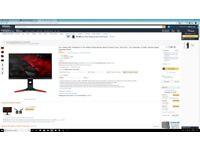 Acer Predator 27 Inch WQHD Gaming Monitor