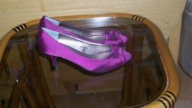 Satin Purple Shoes size 4 unworn