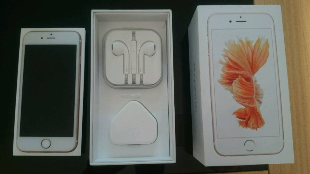 IPhone 6s 64gb on o2/tesco/Giffgaff good Conditionin Bootle, MerseysideGumtree - Fully working boxed with unused earphones and charger genuine sale can deliver for free and set up